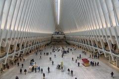 Nueva York World Trade Center estación del 11 de septiembre imágenes de archivo libres de regalías