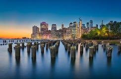 Nueva York y exposición larga foto de archivo