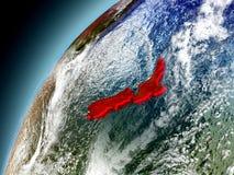 Nueva Zelanda de la órbita de Earth modelo Foto de archivo libre de regalías