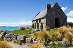 Nueva Zelanda, iglesia en el tekapo del lago Imagen de archivo