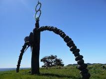 Nueva Zelanda: Monumento de Rainbow Warrior de la bahía de Matauri Imagen de archivo