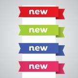 Nuevas banderas de la cinta ilustración del vector