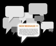 Nuevas burbujas del mensaje Fotos de archivo libres de regalías