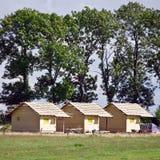Nuevas cabañas de madera Fotos de archivo