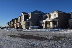 Nuevas casas Fotos de archivo