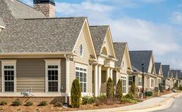 Nuevas casas de fila Imagen de archivo libre de regalías