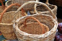Nuevas cestas imagen de archivo libre de regalías