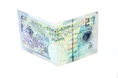 Nuevas cinco 5 libras del billete de banco de billetes del dolar fotografía de archivo libre de regalías
