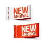 Nuevas cintas de la llegada Imagen de archivo libre de regalías