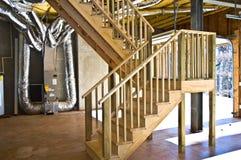 Nuevas escaleras de la construcción Foto de archivo