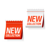 Nuevas escrituras de la etiqueta de la colección Imagen de archivo