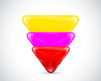 Nuevas escrituras de la etiqueta del triángulo Imagen de archivo libre de regalías