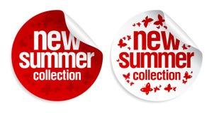 Nuevas etiquetas engomadas de la colección del verano. Imágenes de archivo libres de regalías