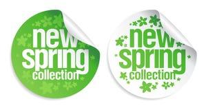 Nuevas etiquetas engomadas de la colección del resorte. Foto de archivo libre de regalías