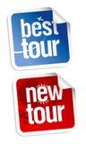 Nuevas etiquetas engomadas de los viajes Foto de archivo