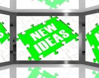 Nuevas ideas en ideas mejoradas demostración de la pantalla Fotos de archivo