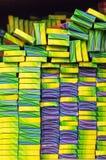 Nuevas luces de Bengala, bengala por completo en tienda Fondo de bengalas en paquete imagen de archivo libre de regalías