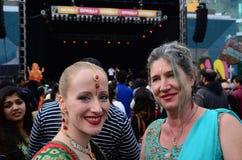 Nuevas mujeres de Zealanders que celebran el festival de Diwali en Auckland, nueva Fotos de archivo