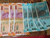 Nuevas notas de la moneda publicadas por RBI fotos de archivo libres de regalías