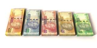 Nuevas notas del rand sudafricano fotos de archivo