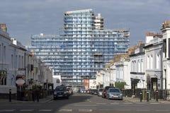 Nuevas oficinas bajo construcción en Plymouth Inglaterra Foto de archivo libre de regalías