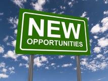 Nuevas oportunidades Fotografía de archivo libre de regalías