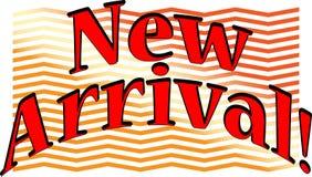 ¡Nuevas palabras emocionantes de la llegada con la fuente de la diversión! Imagen de archivo libre de regalías