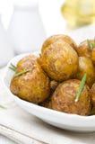 Nuevas patatas cocidas con las especias, primer Fotografía de archivo libre de regalías