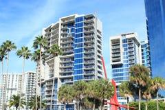 Nuevas propiedades horizontales en Sarasota, la Florida Imágenes de archivo libres de regalías