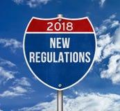 Nuevas regulaciones 2018 foto de archivo libre de regalías