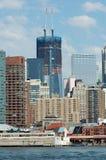 Nuevas subidas del World Trade Center más arriba Foto de archivo libre de regalías