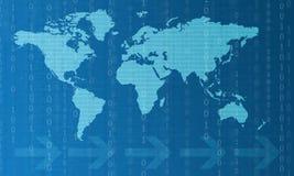 Nuevas tecnologías de comunicación digital stock de ilustración