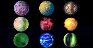 Nueve bolas Imágenes de archivo libres de regalías