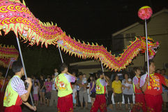 Nueve dioses del emperador - danza del dragón Imagen de archivo