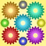 Nueve engranajes multicolores Libre Illustration