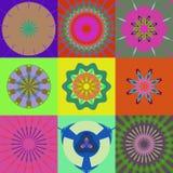 Nueve figuras abstractas Fotos de archivo