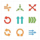 Nueve flechas modernas planas libre illustration
