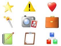 Nueve iconos del Internet Foto de archivo libre de regalías