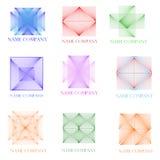 Nueve iconos tridimensionales Fotografía de archivo