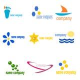 Nueve insignias Fotos de archivo libres de regalías