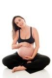 Nueve meses de embarazo Foto de archivo