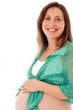 Nueve meses de embarazo Imagenes de archivo