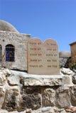 Nueve preceptos bíblicos en hebreo foto de archivo