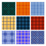 Nueve rayaron el modelo inconsútil de la materia textil colorida Imagen de archivo