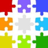 Nueve rompecabezas del color Imagen de archivo libre de regalías