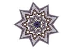 Nueve señalaron el ejemplo gris de la estrella ilustración del vector