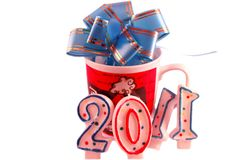 Nuevo 2011 feliz Foto de archivo libre de regalías