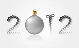 Nuevo 2012 con una esfera ilustración del vector