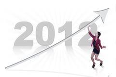 Nuevo año comercial 2012 Fotos de archivo libres de regalías