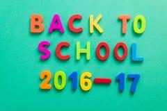 Nuevo año escolar 2016-2017 Imágenes de archivo libres de regalías